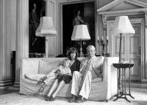 Nicolas Gage, 8th Viscount Gage with family